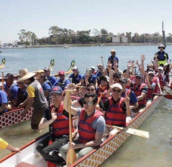 长滩龙舟赛 吸引世界各地160队参加