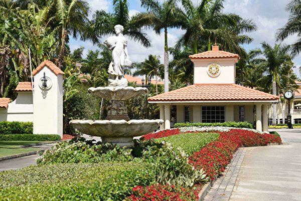 特朗普全國多拉-邁阿密高爾夫俱樂部。(Michele Eve Sandberg/AFP)
