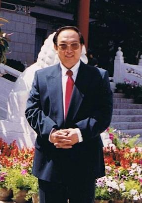 潘淑珍的丈夫楊禮方1998年在北京留影。(潘淑珍提供)