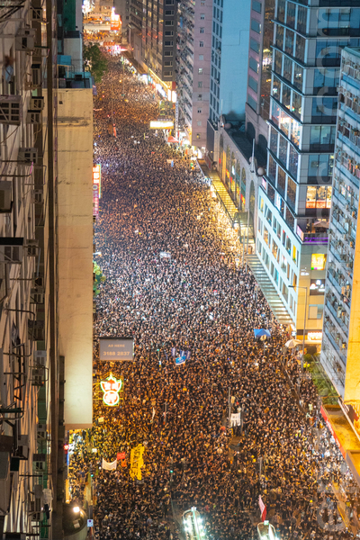 香港民間人權陣線6月16日再次舉行反送中大遊行,再次刷新記錄,有高達200萬人上街,要求撤回修訂草案及特首林鄭月娥下台。(李逸/大紀元)