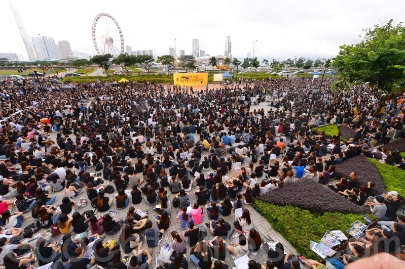 【8.2反送中組圖1】醫療界愛丁堡廣場集會搶救香港