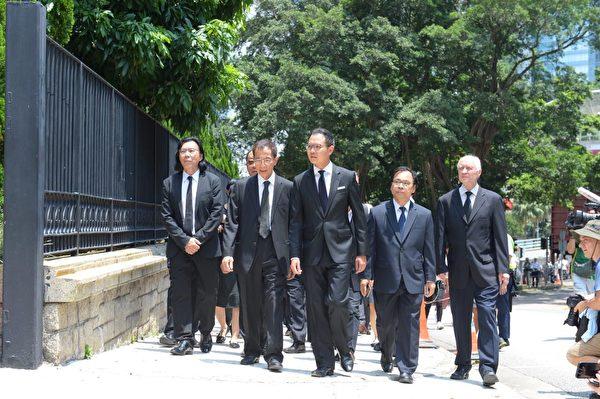 8月7日香港法律界舉行黑衣遊行,反對送中條例。(宋碧龍/大紀元)