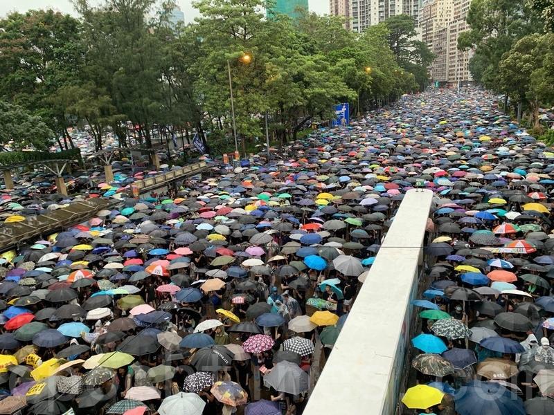 【8.18反送中組圖】港人在維園首創啟動流水式集會