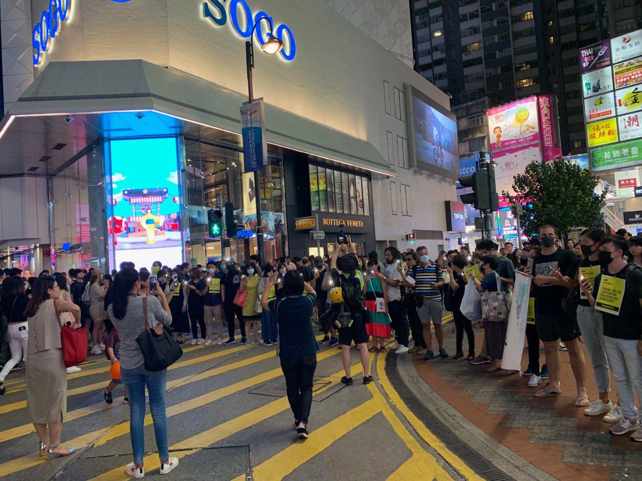 【8.23反送中】香港人鏈活動 高喊天滅中共