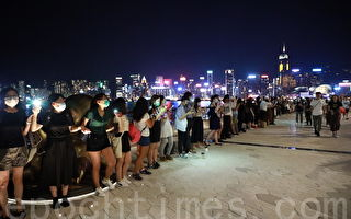 張林:香港人手拉手呼喚自由