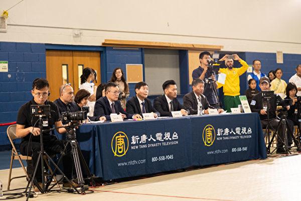 2019年8月24日新唐人武術大賽初賽評委會。(戴兵/大紀元)