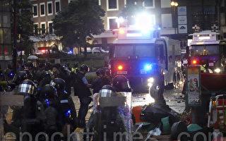 組圖:8.25荃葵青集會遊行 警方出動水炮車
