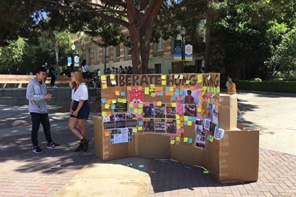 "UCLA设""连侬墙""挺香港抗议港警暴行"
