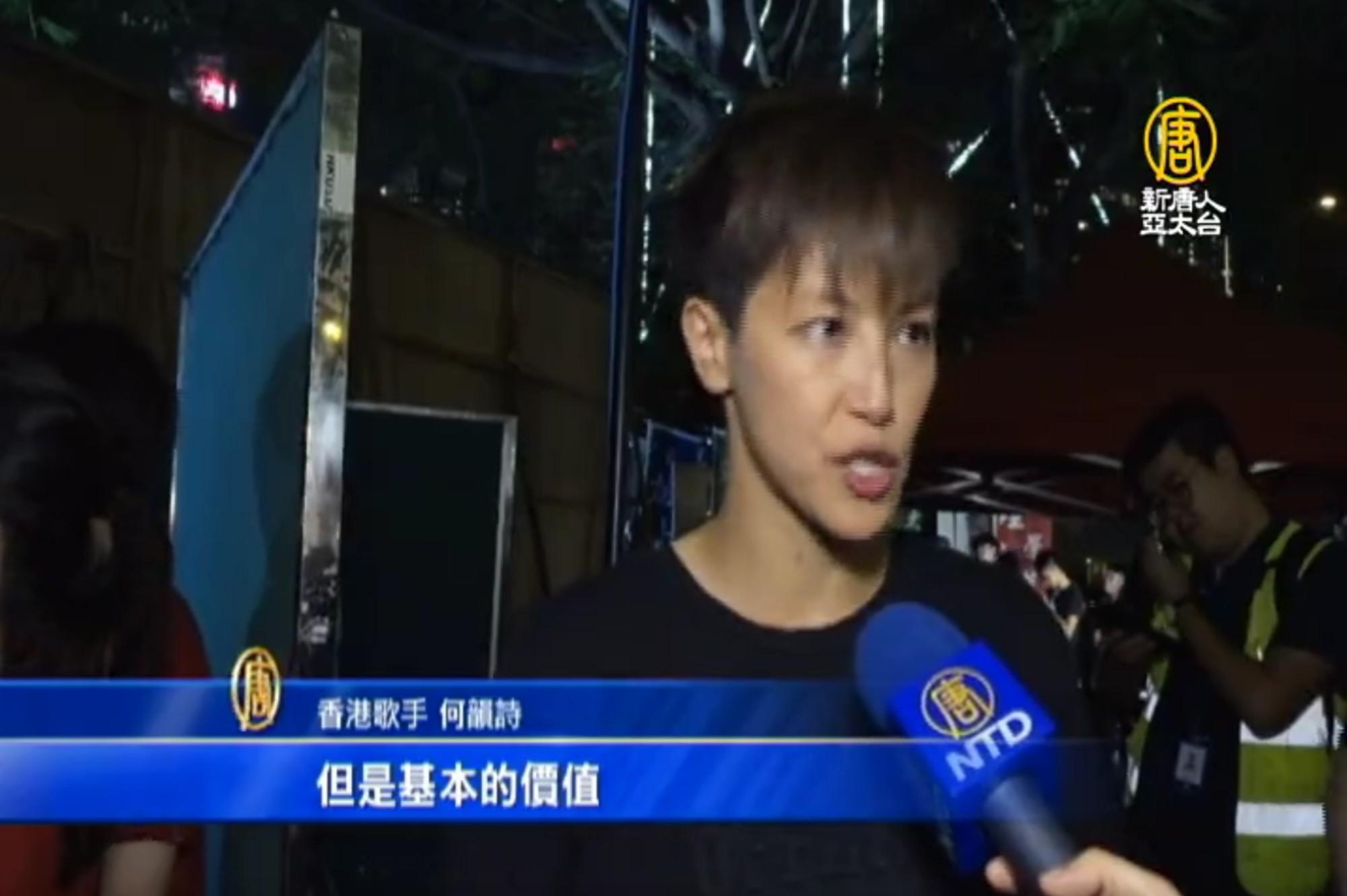 何韻詩:香港要高度自治 北京需兌現承諾