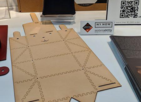 Studio Smoll设计的造型包款,使用折线的方式制作皮包,不需使用黏胶和化学物质。