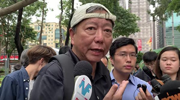 香港前立法會議員、前任支聯會主席李卓人。(駱亞/大紀元)