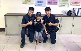 5岁男童生日许愿当警察  波丽士让他圆梦