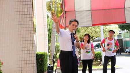 """嘉基院长姚维仁表示,感谢嘉义大学与嘉基一起""""共创嘉园"""",也感谢市府及邻里民众和关怀自闭症协会的支持。"""