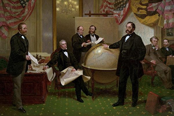 時任國務卿西華德指示在1868年出爐一份購買格陵蘭島可行性報告。(維基百科公有領域)