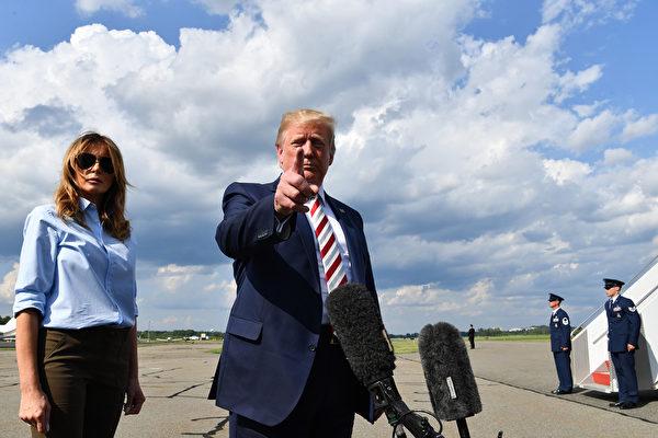 特朗普重申:「華為是一家我們可能根本不與之做生意的公司。」(NICHOLAS KAMM/AFP/Getty Images)