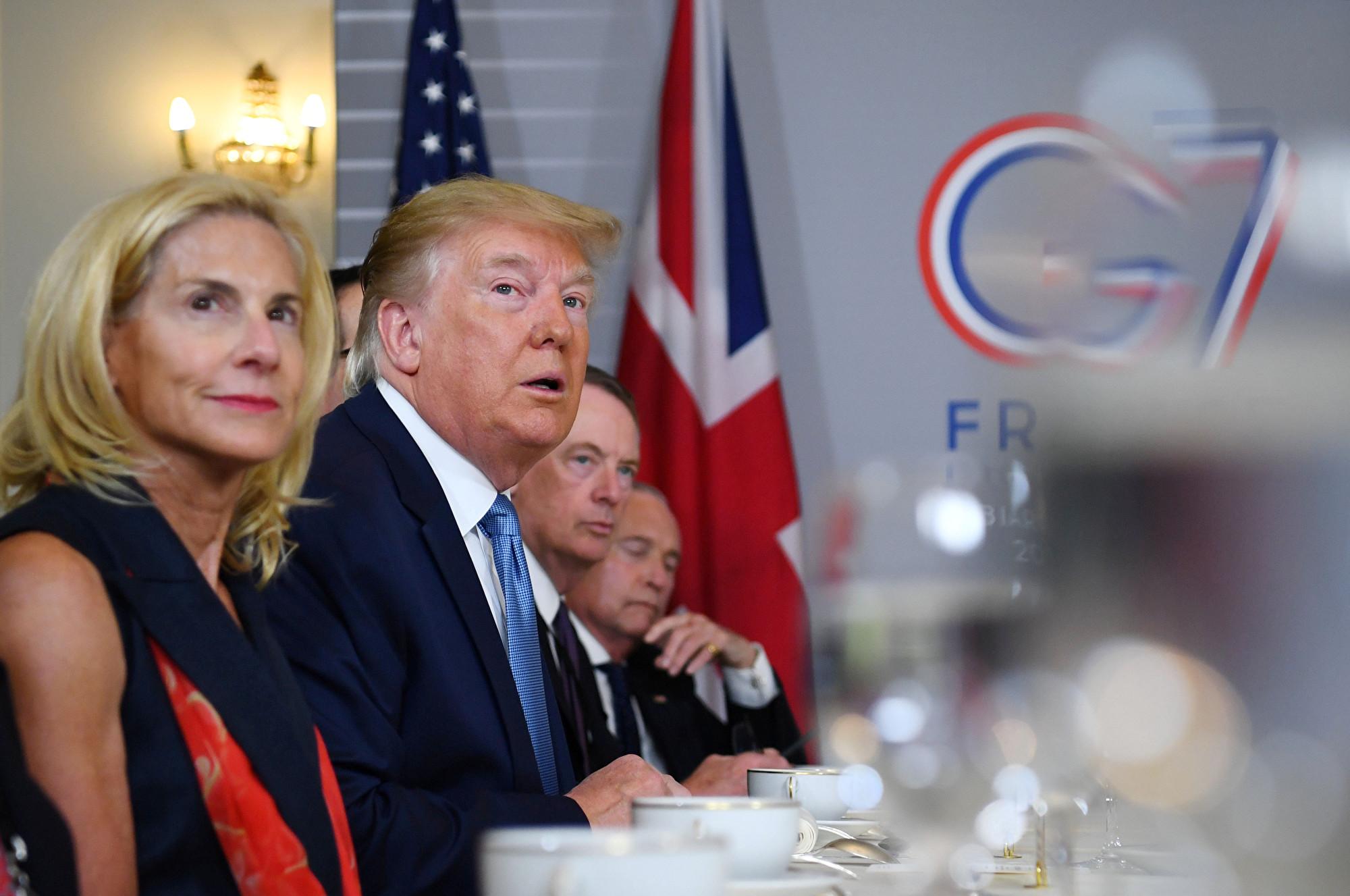 外交向來無小事,尤其是中美貿易戰全面升級,雙方通話屬於關注的「大事」;中共外交部卻「明確」回答,「沒聽說」,再次跟美國不同調。圖為美國總統特朗普出席G7峰會。(Dylan Martinez-Pool/Getty Images)