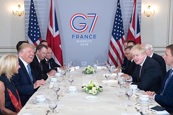 8月25日,特朗普在法國參加G7峰會。(Stefan Rousseau – Pool/Getty Images)