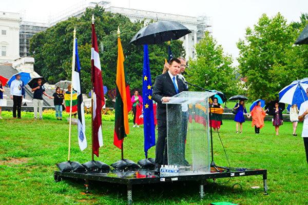 愛沙尼亞駐美大使 Jonatan Vseviov。(李辰/大紀元)