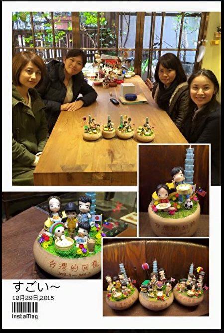 一群來台旅遊的日本媽媽留下旅遊記憶。(陳億青提供)