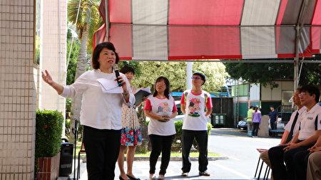 """市长黄敏惠说,因应""""嘉园""""巷弄长照站设立,市府将配合提供市区公车服务。"""