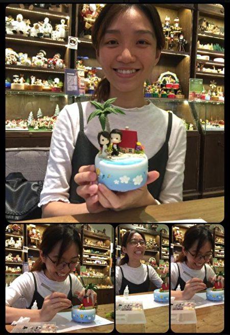 來台旅行的香港遊客打造新婚紀念品。(陳億青提供)