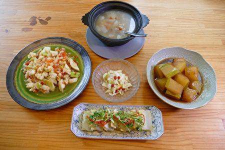 冬瓜是夏天极好的蔬食食材,可创造出各式美味冬瓜料理。