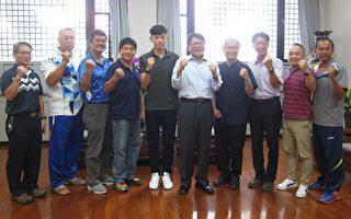 屏东之光  潘孟安接见台湾羽球新星林俊易