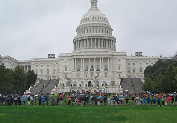 8月23日,美國國會山舉行「波羅的海之路」30周年紀念活動。(章勤/大紀元)