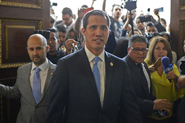 2019年9月17日,委內瑞拉國民議會批准胡安·瓜伊多(Juan Guaido )擔任該國臨時總統。(Matias Delacroix / AFP)
