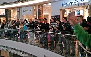 温哥华商场逾千人齐唱 愿荣光归香港