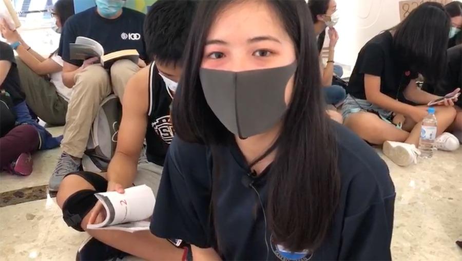 香港學生:站出來 最後達到我們的基本訴求