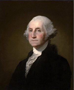 喬治.華盛頓(George Washington)畫像(維基百科公共領域)