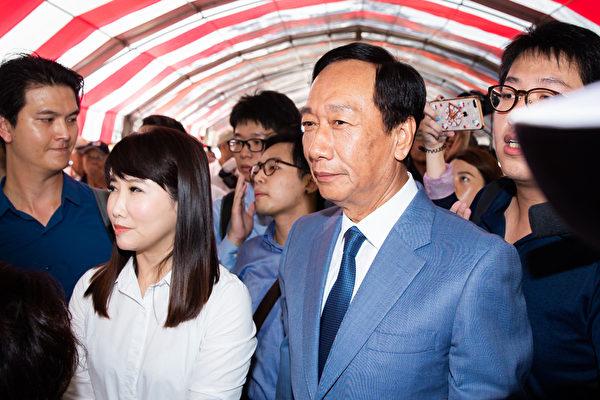 鴻海集團創辦人郭台銘16日深夜發聲明,表明不參選2020總統大選,為台灣政壇投下震撼彈。(陳柏州/大紀元)