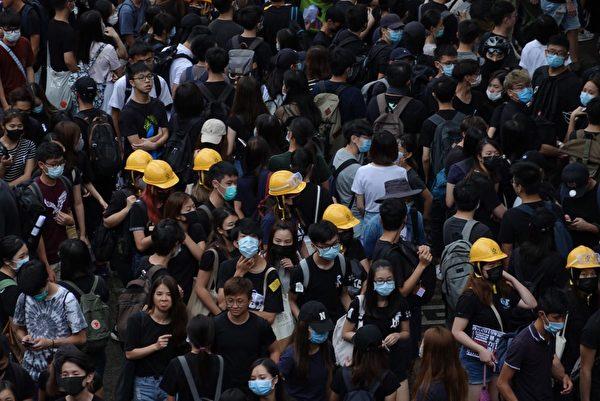 2019年9月2日,中文大學百萬大道罷課集會活動,抗議港府無視民眾訴求,港警暴力鎮壓。(余鋼/大紀元)