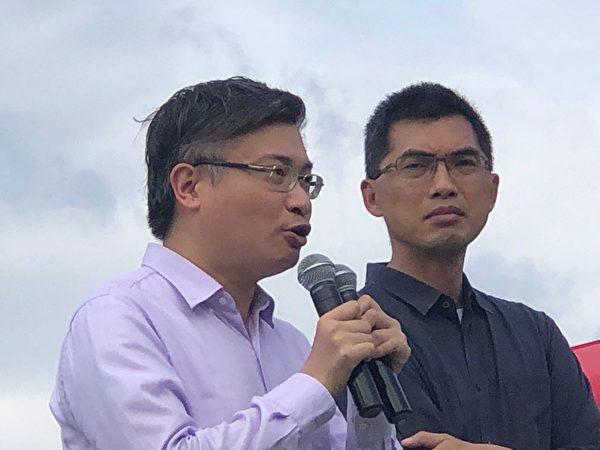 2019年9月3日,全港21界別在金鐘添馬公園罷工集會,桑普先生、邢福增先生發言。(余天祐/大紀元)