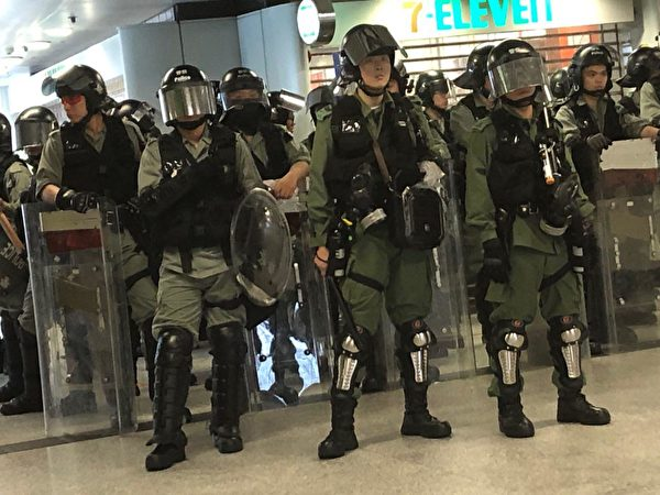 2019年9月8日,香港民眾舉行《香港人權與民主法案》祈禱會和美領館請願行動,金鐘現況。(余天祐/大紀元)