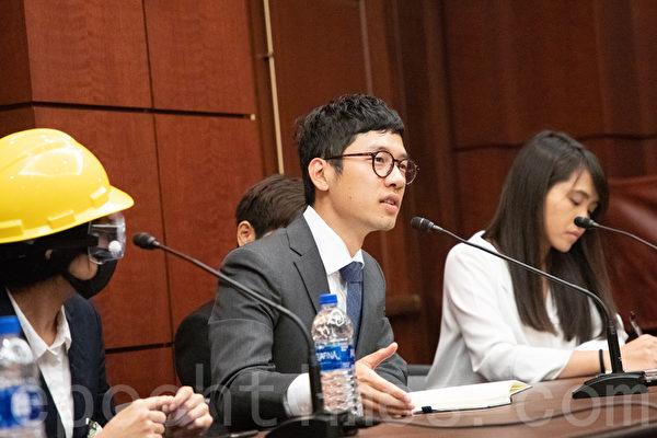 前香港立法會議員羅冠聰表示,這不僅是港人的抗爭,更是不同價值觀之爭。(林樂予/大紀元)
