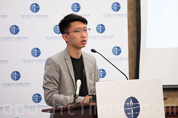 香港大專學界國際事務代表團發言人張崑陽。(林樂予/大紀元)