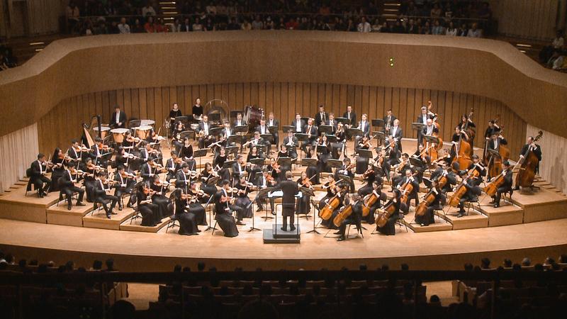 2019年9月21日晚,神韻交響樂團在首次在新成立的高雄衛武營藝術文化中心進行台灣第三場演出,票房早已售罄一票難求。(新唐人電視公司)