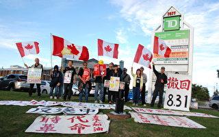 多伦多港人自发纪念雨伞运动5周年