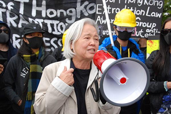約克大學教授吳溫溫說,加拿大人是時候站出來,支持反對極權暴政。(伊鈴/大紀元)