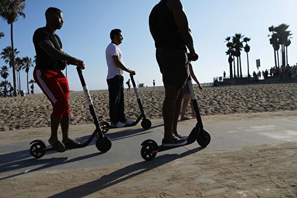 電動滑板和自行車或減少汽車使用
