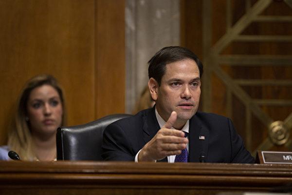 此法案在參議院由共和黨參議員馬克‧魯比奧(Marco Rubio,圖)和民主黨參議員本‧卡丹(Ben Cardin)等議員提出。(Stefani Reynolds/Getty Images)