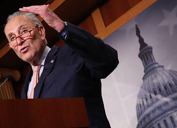 參院民主黨領袖舒默9月5日表示,下周國會復會時,《香港人權與民主法案》將是民主黨議員推進的首要任務之一。 (Win McNamee/Getty Images)