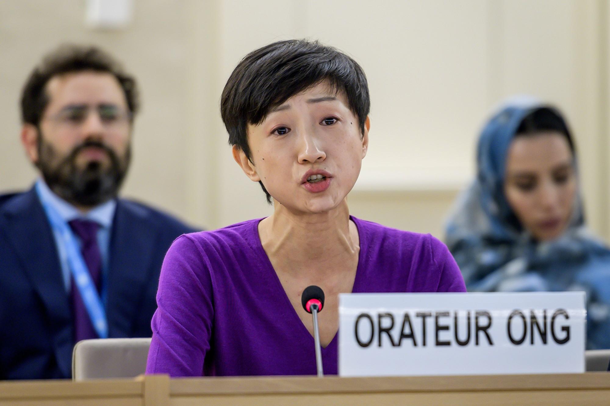 港公民黨立法會議員聯合國發言 指港警濫暴