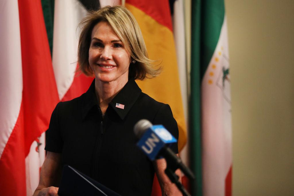 圖為美國駐聯合國大使凱莉・克拉夫特( Kelly Craft)。(Spencer Platt/Getty Images)