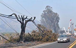 加州两大电力公司本周启动断电防火