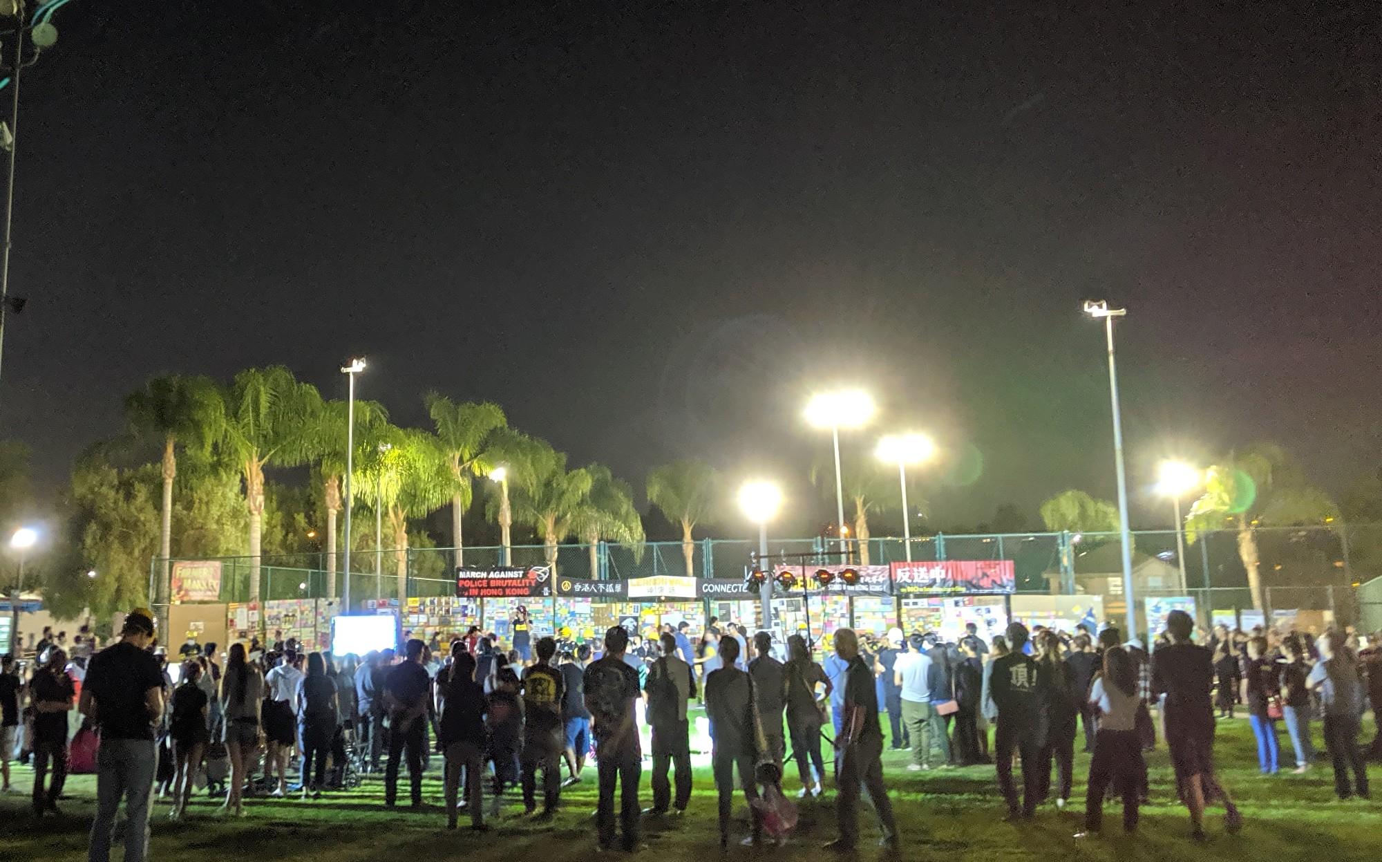 洛杉磯香港論壇主辦紀念香港831五周年活動。(徐繡惠/大紀元)