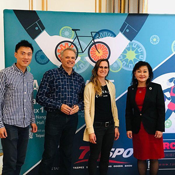 圖:台灣自行車及體育用品展覽與產業說明會在溫哥華舉行,加國公司推薦台灣自行車及體育用品展,是進軍國際市場的最佳選擇。(邱晨/大紀元)