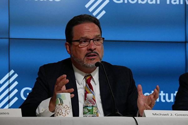 華盛頓智囊戰略與國際研究中心(CSIS)的亞洲及日本研究高級副總裁葛林(Michael Green)(李辰/大紀元)